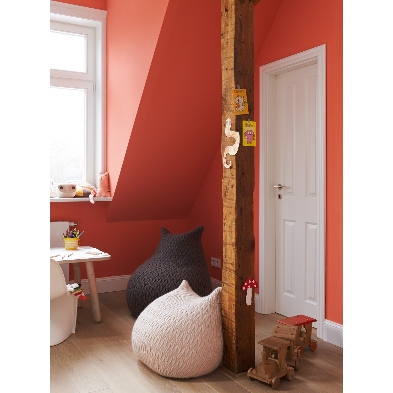 Azurblau Wandfarbe: Alpina Feine Farben No. 25 Leuchtendes Orange Edelmatt 2,5