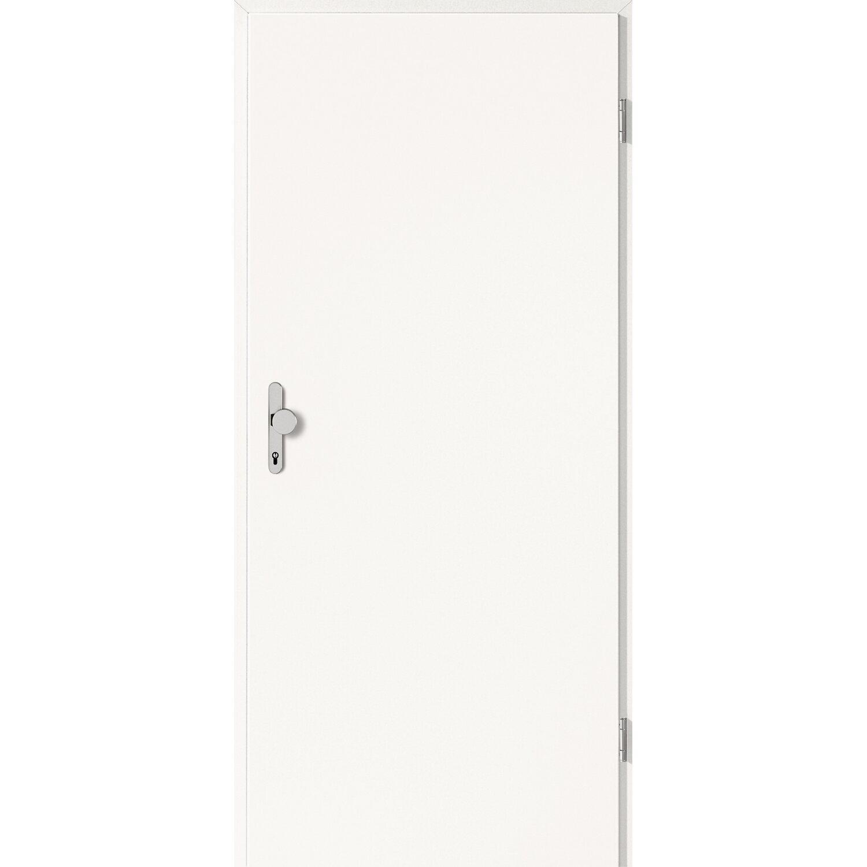 Wohnungseingangstür weiß  Wohnungseingangstür CPL Weiß (GL223) 86 cm x 198,5 cm Anschlag ...