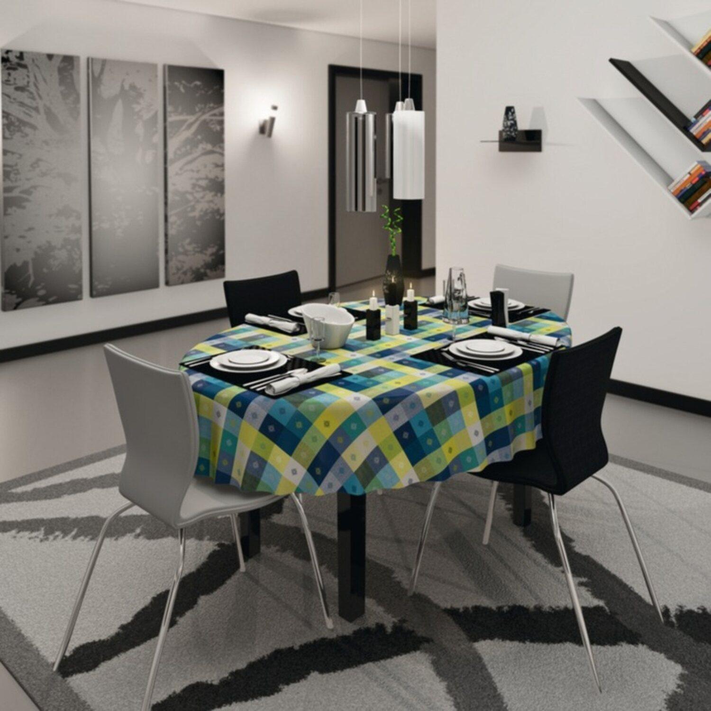 d c fix tischdecke victor blau 150 cm rund kaufen bei obi. Black Bedroom Furniture Sets. Home Design Ideas