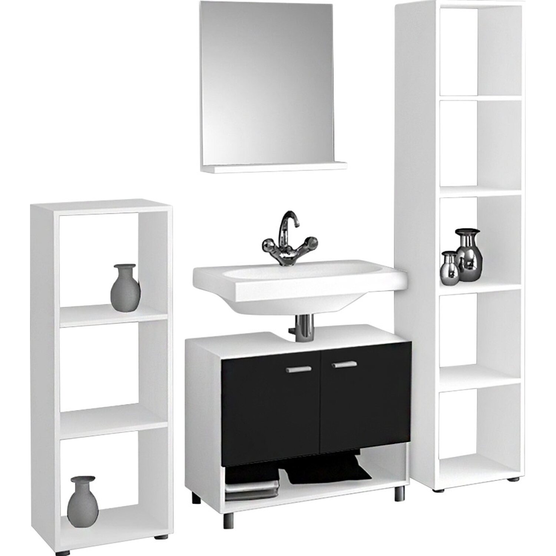 vcm badm bel set cristola wei schwarz 4 teilig kaufen bei obi. Black Bedroom Furniture Sets. Home Design Ideas