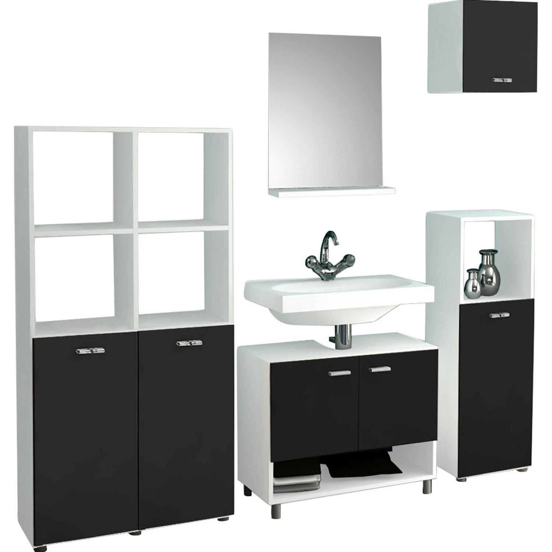 vcm badm bel set wesola wei schwarz 5 teilig kaufen bei obi. Black Bedroom Furniture Sets. Home Design Ideas