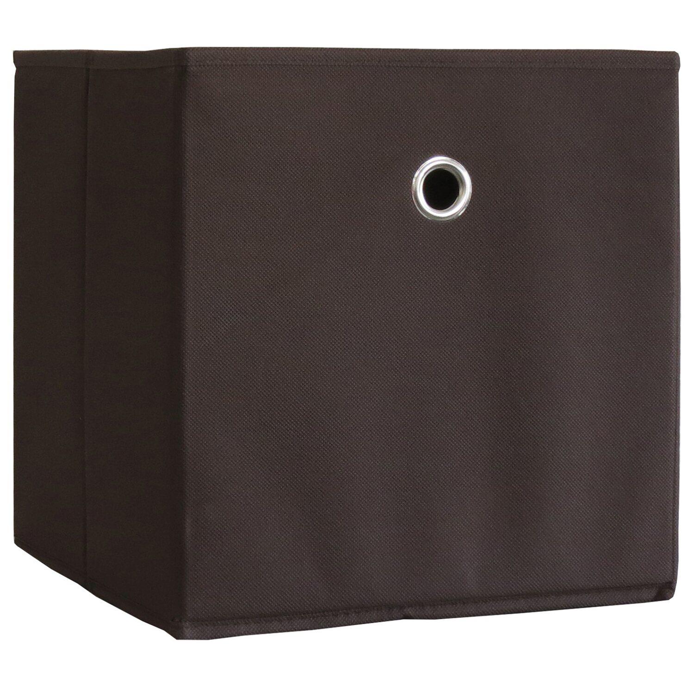Vcm stoffbox boxas dunkelbraun ohne deckel 3 st ck kaufen for Badmobel dunkelbraun
