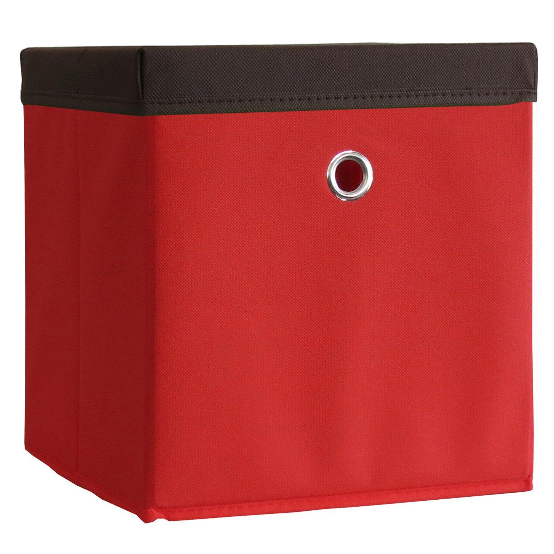 Stoffbox Mit Deckel : vcm stoffbox boxas rot mit deckel kaufen bei obi ~ Frokenaadalensverden.com Haus und Dekorationen