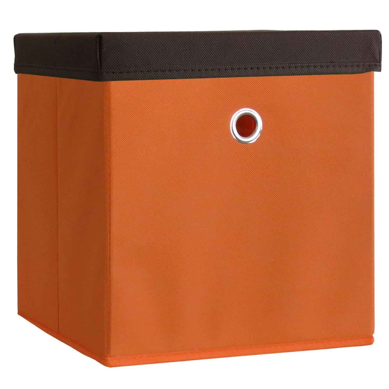 Stoffbox Mit Deckel : vcm stoffbox boxas orange mit deckel kaufen bei obi ~ Frokenaadalensverden.com Haus und Dekorationen