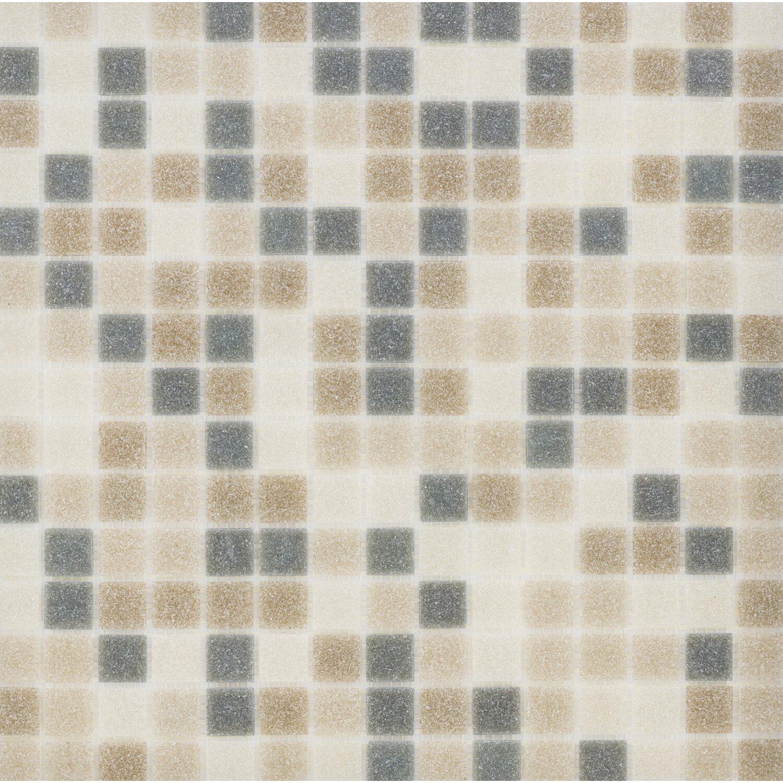Sonstige Glasmosaikmatte Grey-Brown-Beige 32,6 cm x 32,6 cm
