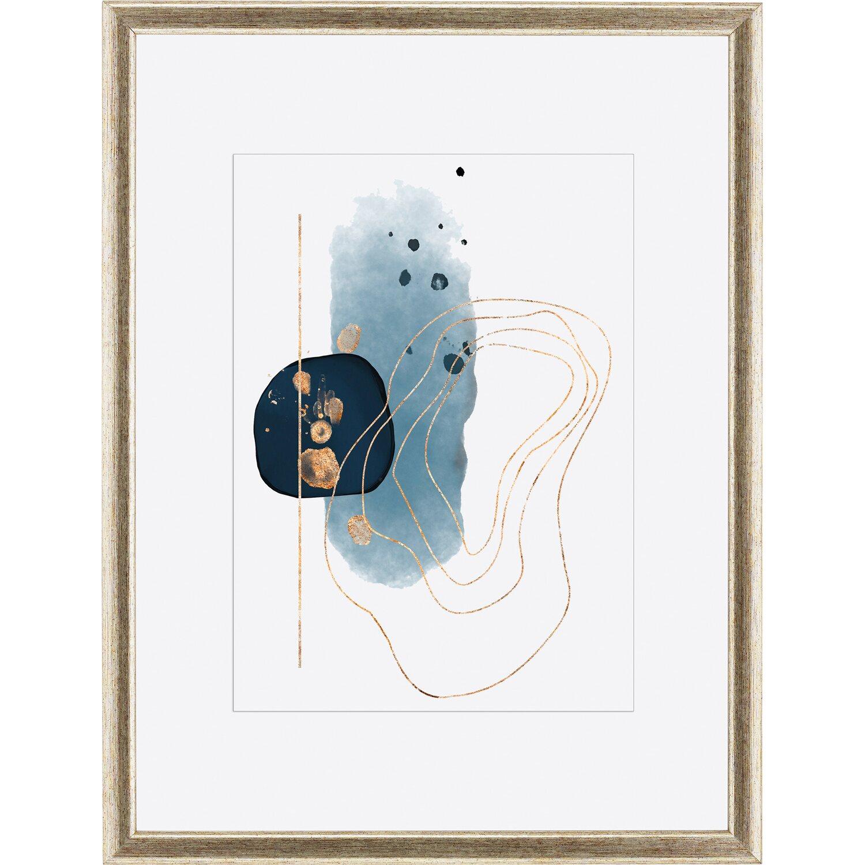 OBI Holz-Bilderrahmen Silber/Gold 30 cm x 40 cm kaufen bei OBI