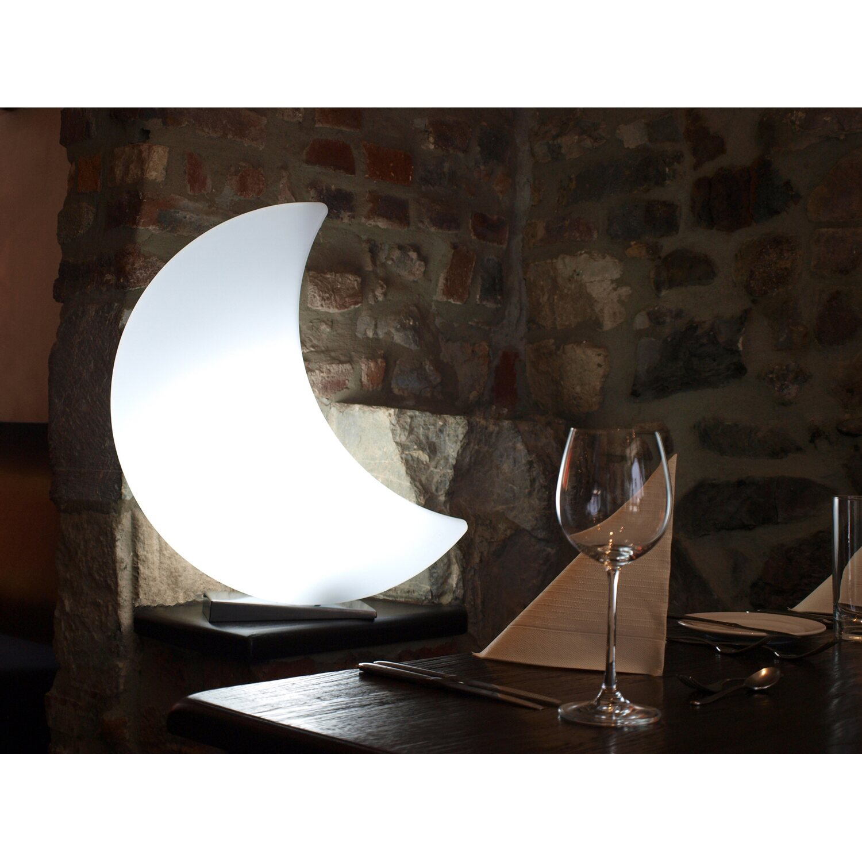 8 seasons design beleuchteter mond 60 cm outdoor kaufen bei obi. Black Bedroom Furniture Sets. Home Design Ideas