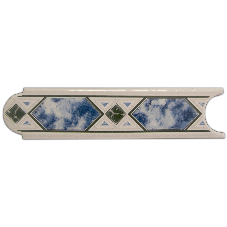 Sonstige Bordüre Malta Blau 5 cm x 20 cm