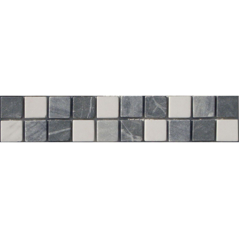 Sonstige Bordüre Kronos Grau Weiß Mix 5 cm x 25 cm