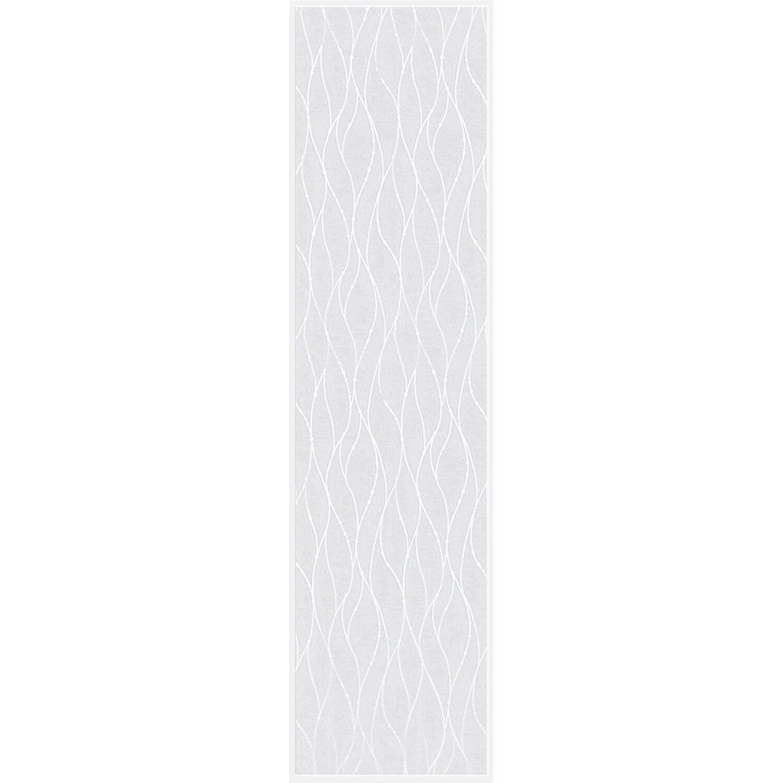 Bennetti  Schiebevorhang Voile Weiß-Silber 60 cm x 245 cm