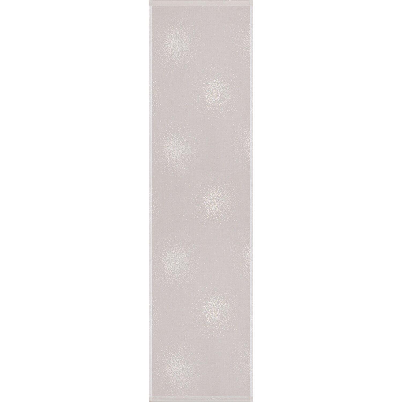 Bennetti  Schiebevorhang Etamine Weiß-Silber 60 cm x 245 cm