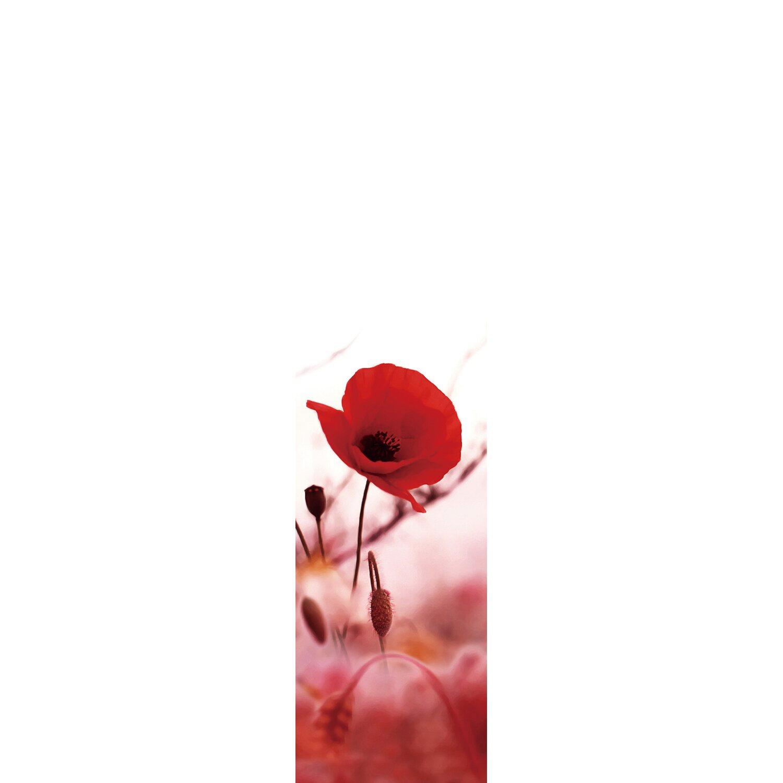 Bennetti  Schiebevorhang Voile Rot 60 cm x 245 cm
