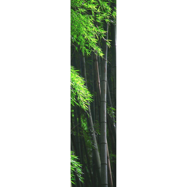 Bennetti  Schiebevorhang Voile Schwarz-Grün 60 cm x 245 cm