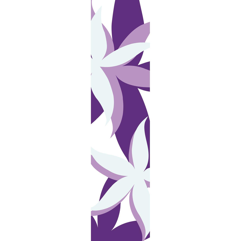 Bennetti  Schiebevorhang Voile Weiß-Lila 60 cm x 245 cm