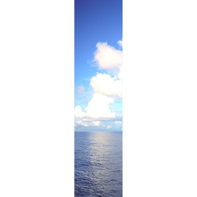 Bennetti  Schiebevorhang Voile Blau-Weiß 60 cm x 245 cm