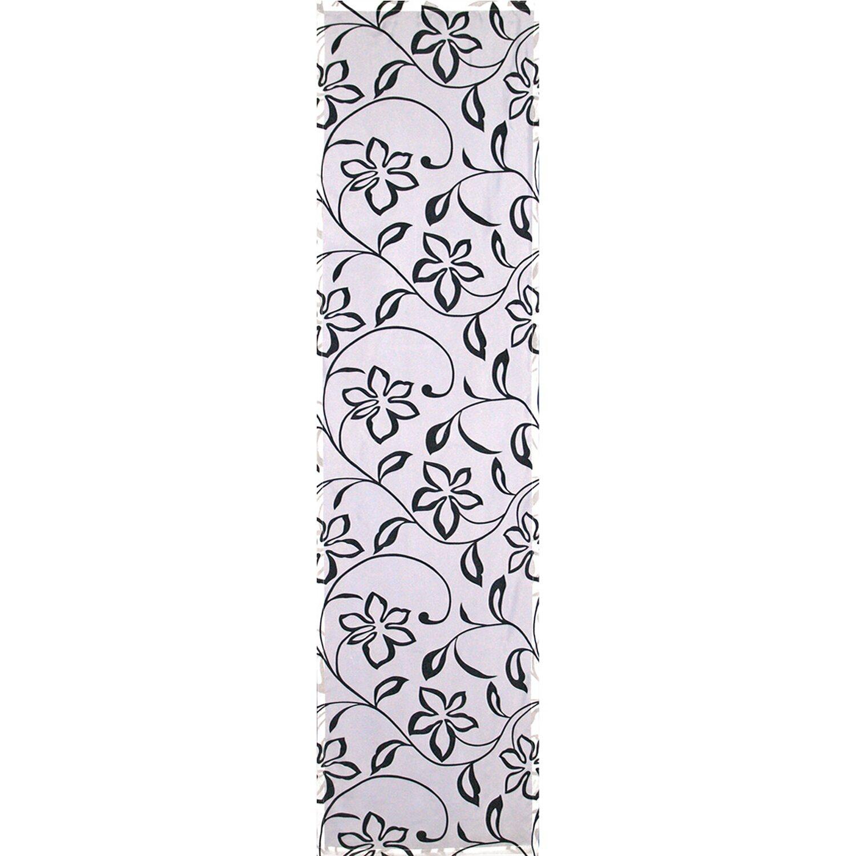 Bennetti  Schiebevorhang Voile Weiß-Schwarz 60 cm x 245 cm
