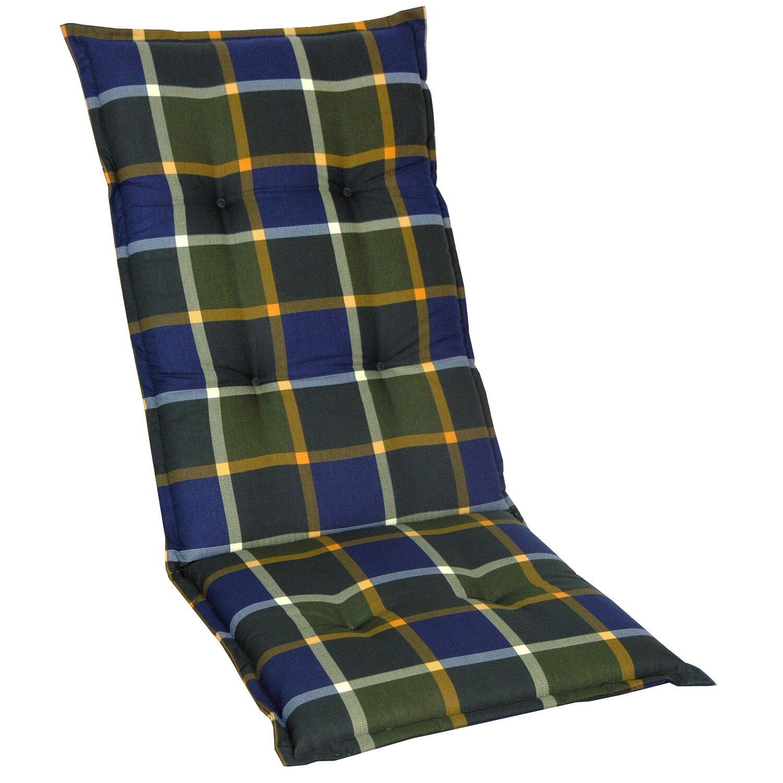 hochlehner auflage langeoog gr n blau kariert kaufen bei obi. Black Bedroom Furniture Sets. Home Design Ideas