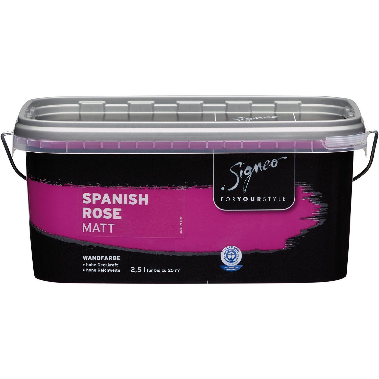 Signeo Bunte Wandfarbe Matt Spanish Rose 2,5 L Kaufen Bei OBI