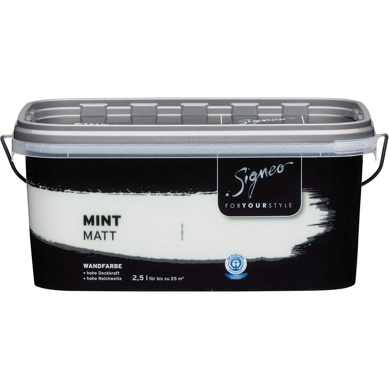 Signeo Bunte Wandfarbe Matt Mint 2,5 L Kaufen Bei OBI