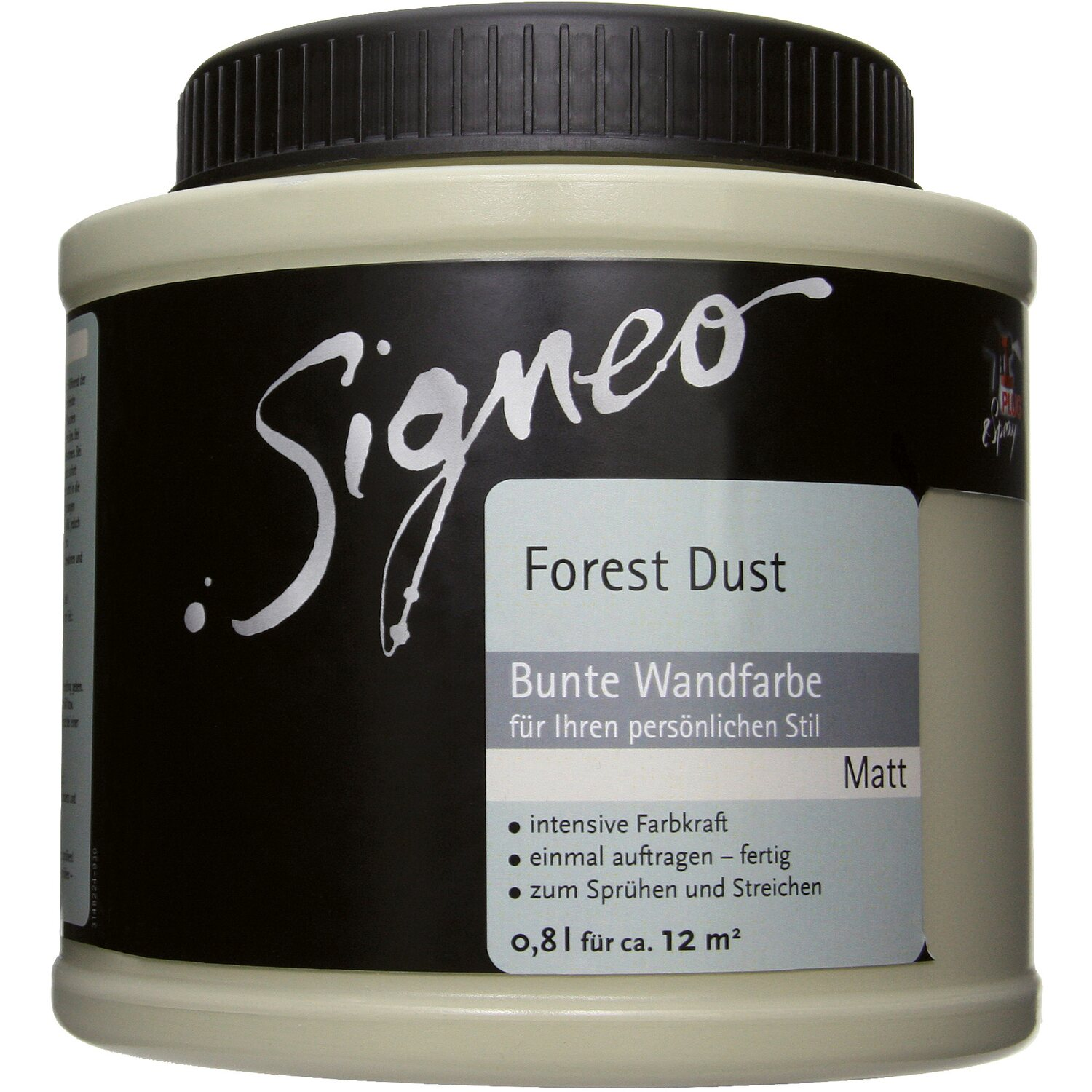 signeo bunte wandfarbe matt forest dust 800 ml kaufen bei obi. Black Bedroom Furniture Sets. Home Design Ideas
