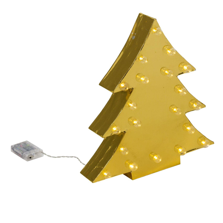 best of home beleuchtetes deko objekt tanne goldfarben. Black Bedroom Furniture Sets. Home Design Ideas