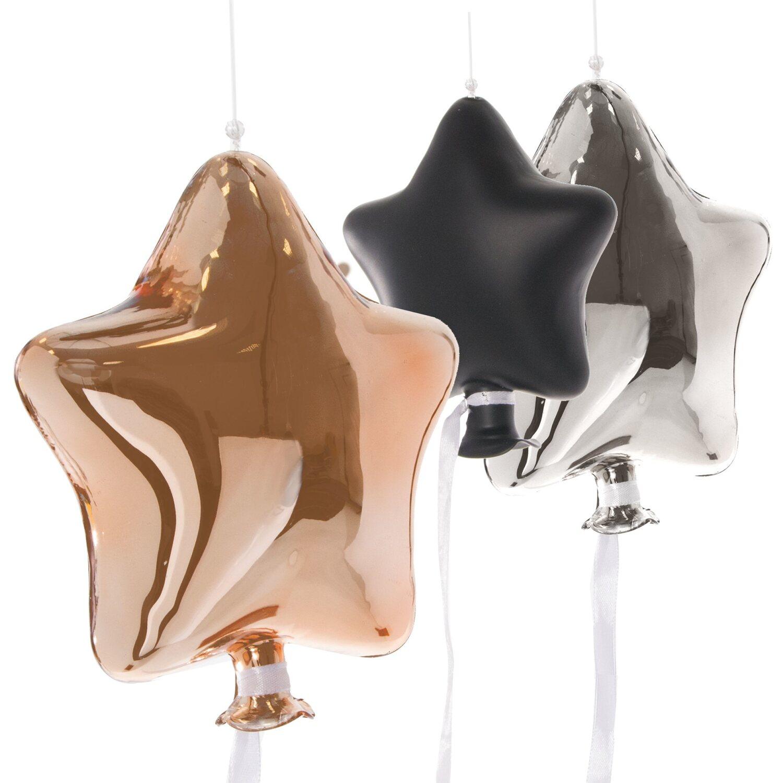 Best of home dekoh nger set sternen ballons 3 teilig bunt for Obi weihnachten
