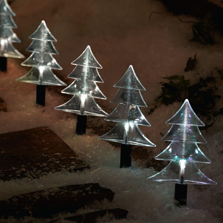 Außergewöhnliche Weihnachtsbeleuchtung.Best Of Home Beleuchtetes Gartenstecker Set Tannenbäume 6 Teilig