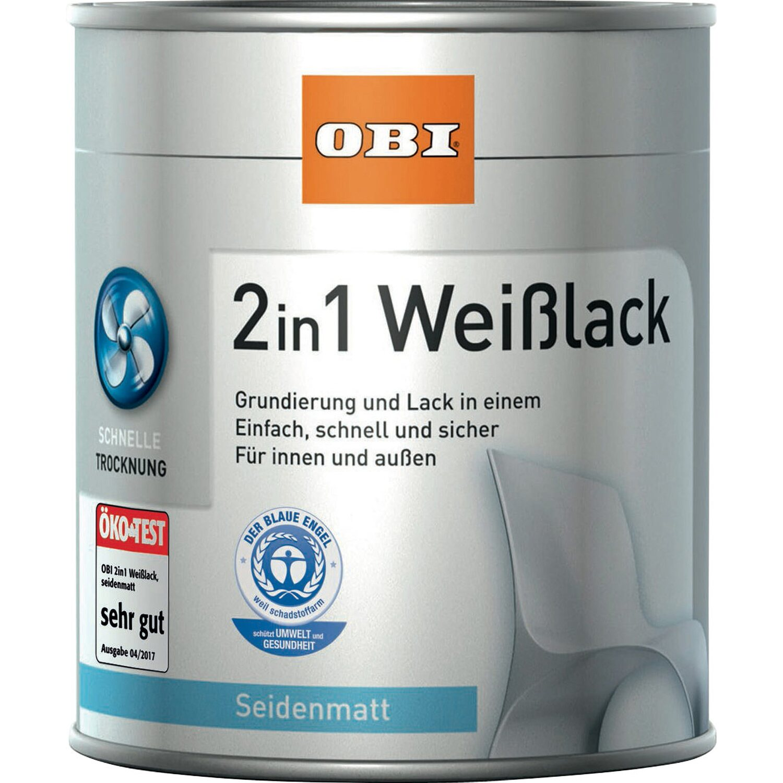 OBI  2in1 Weißlack Weiß seidenmatt 375 ml