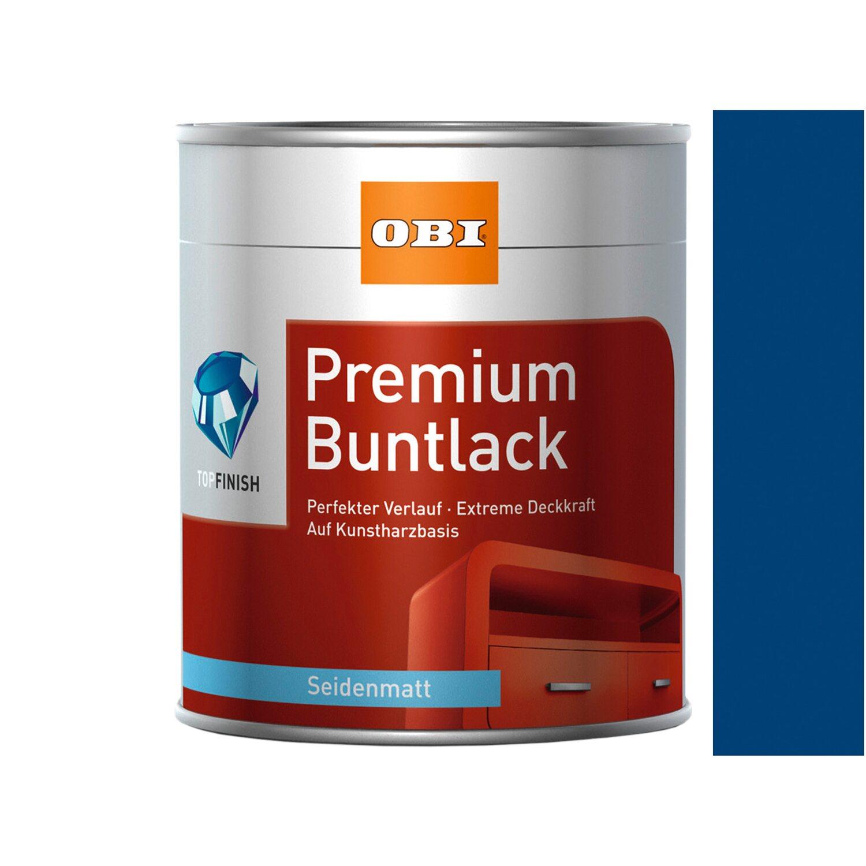OBI  Premium Buntlack Enzianblau seidenmatt 2,5 l