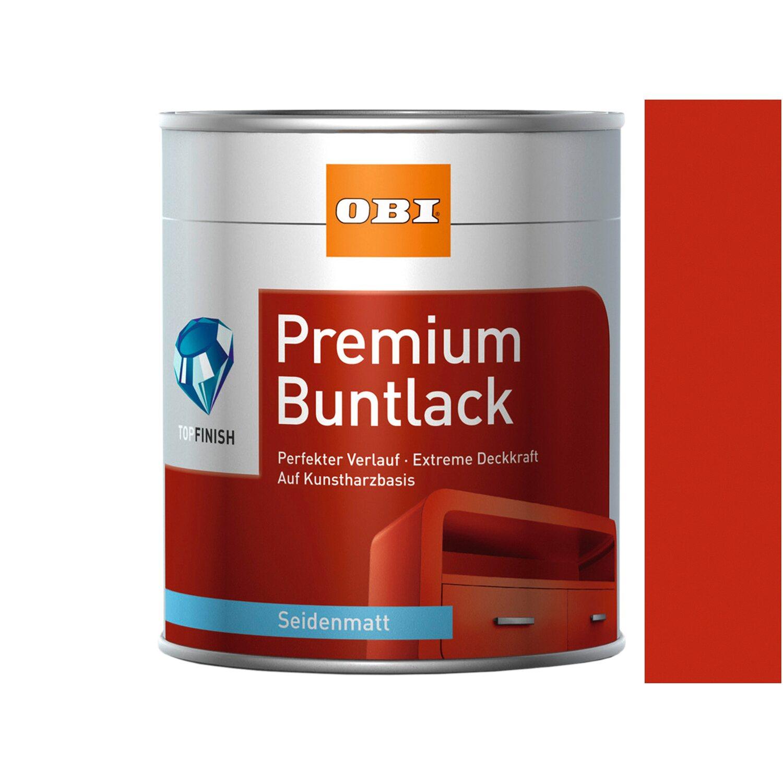 OBI  Premium Buntlack Feuerrot seidenmatt 375 ml