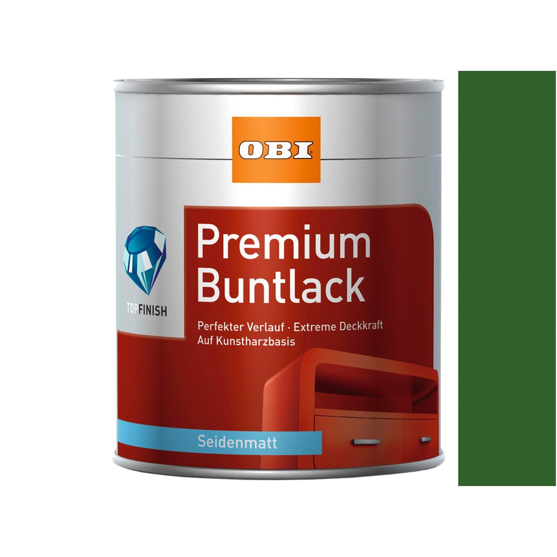OBI  Premium Buntlack Laubgrün seidenmatt 375 ml