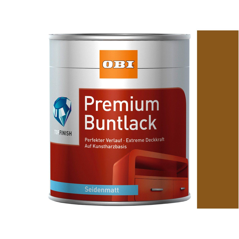 OBI  Premium Buntlack Lehmbraun seidenmatt 375 ml