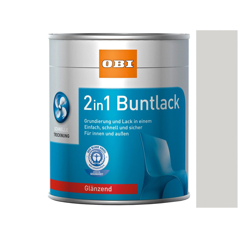 OBI  2in1 Buntlack Grauweiß glänzend 375 ml