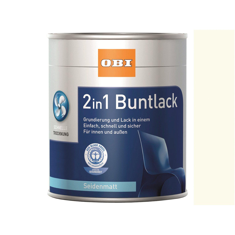 OBI  2in1 Buntlack Reinweiß seidenmatt 2,5 l