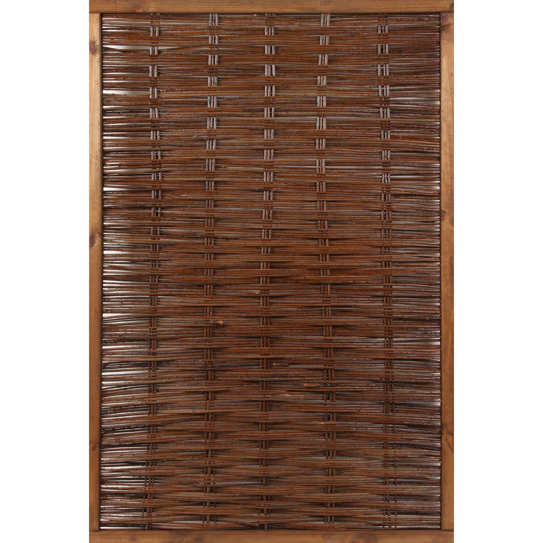 Sichtschutzzaun Element Florenz 180 cm x 120 cm Braun kaufen bei OBI