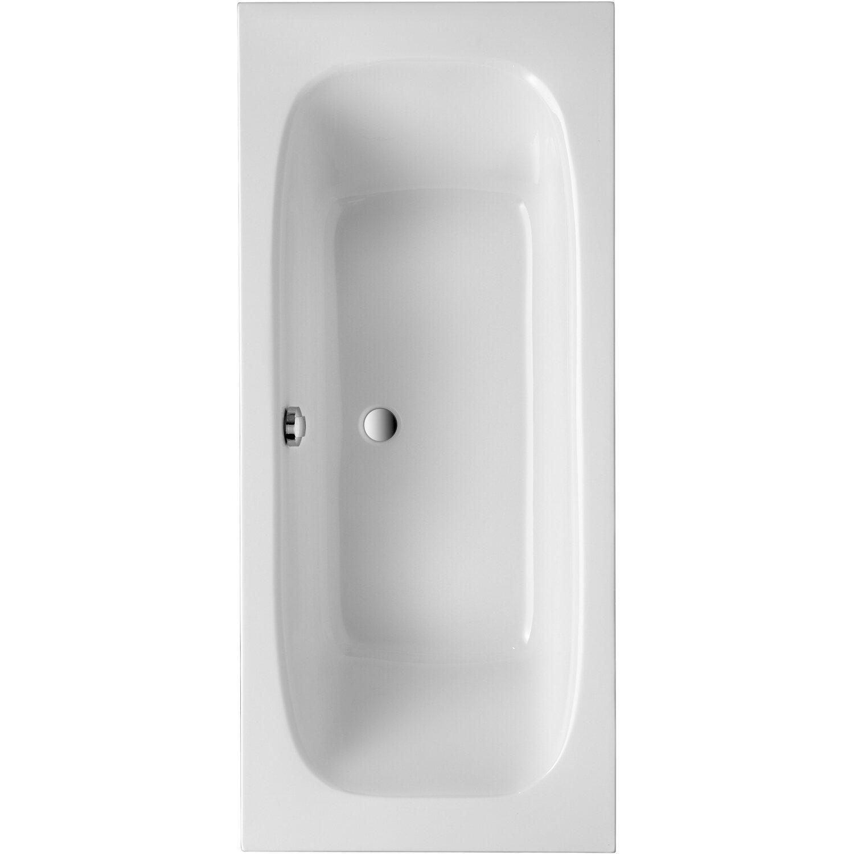 Körperformwanne Malta 180 cm x 80 cm Weiß