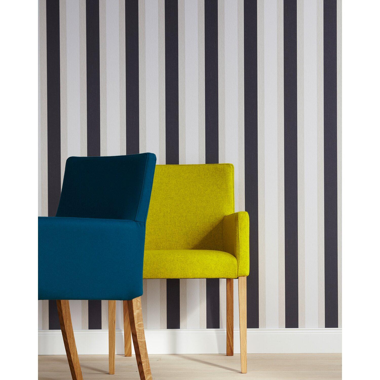 brigitte home papiertapete streifen grau kaufen bei obi. Black Bedroom Furniture Sets. Home Design Ideas