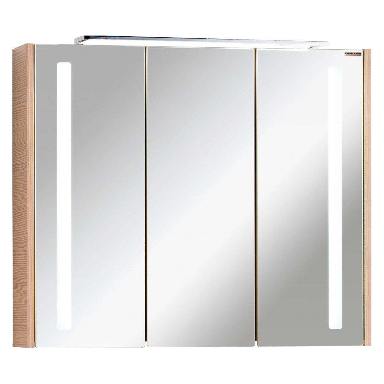 fackelmann badm belserie viora in wei nuss spiegelschrank 79 5 cm breit natur. Black Bedroom Furniture Sets. Home Design Ideas