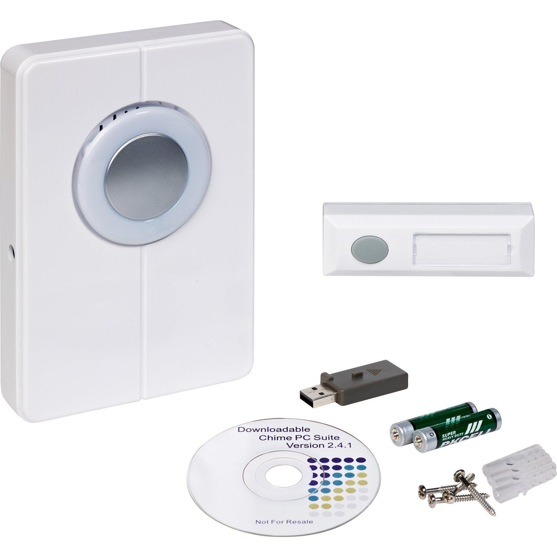 OBI Funkgong mit Türklingel und USB Weiß 200 m