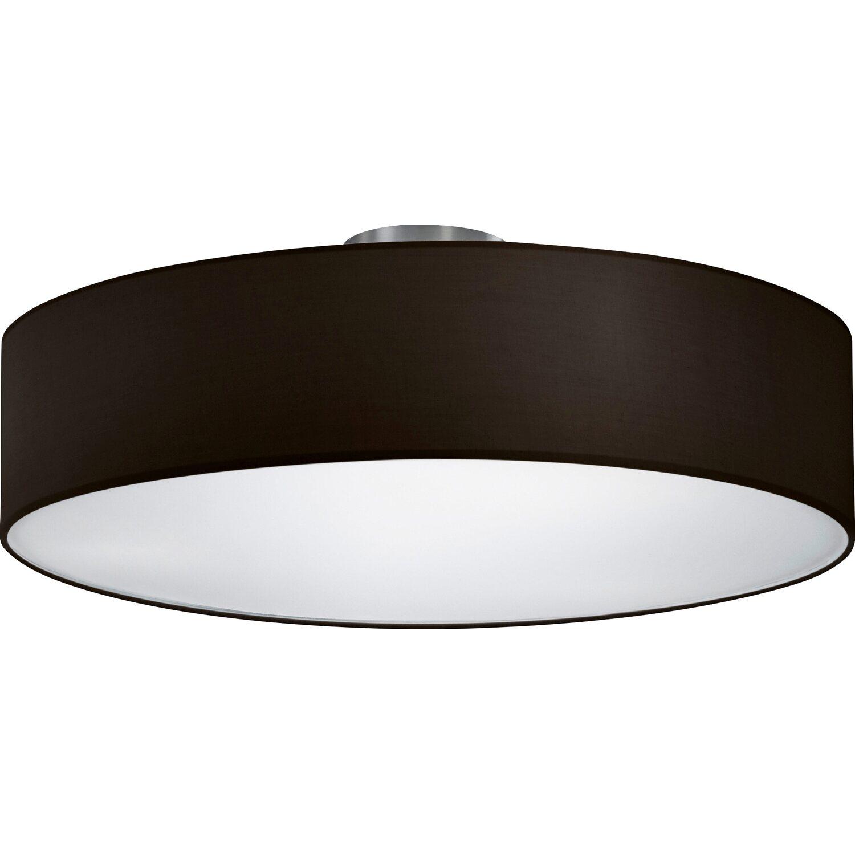 trio deckenleuchte stoffschirm schwarz eek e a kaufen bei obi. Black Bedroom Furniture Sets. Home Design Ideas