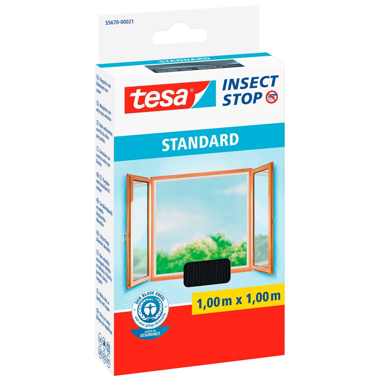 tesa insect stop fliegengitter standard mit klettband 100. Black Bedroom Furniture Sets. Home Design Ideas