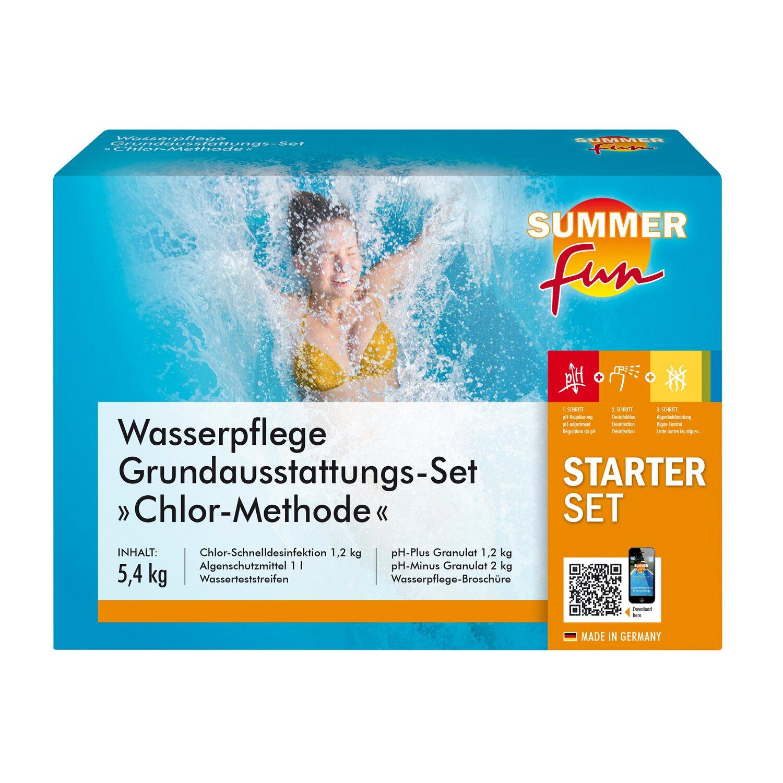 Summer Fun Wasserpflege Grundausstattungs Set Chlor Maxipack 5 4 Kg
