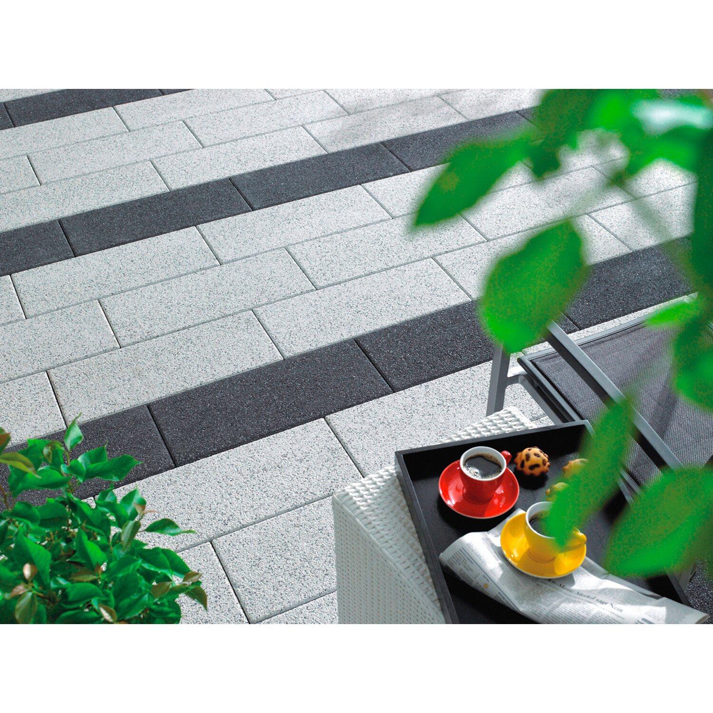 Kann Terrassenplatte Beton Dallas Weiß 60 cm x 25 cm Komplett-Paket ab 20 m²