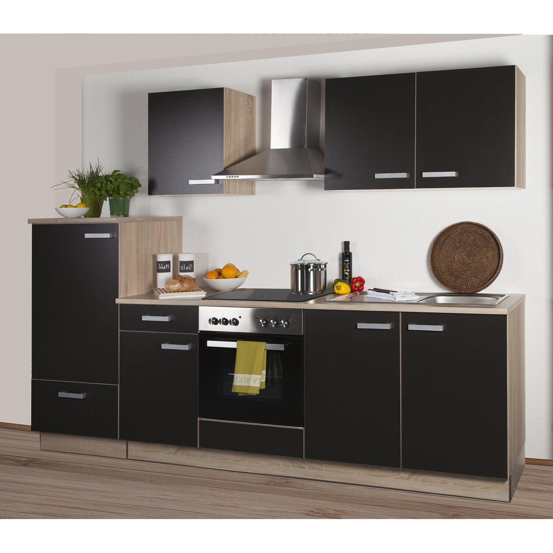 k chenzeile litra 270 cm lava melamin sonoma eiche k hlschrank links kaufen bei obi. Black Bedroom Furniture Sets. Home Design Ideas
