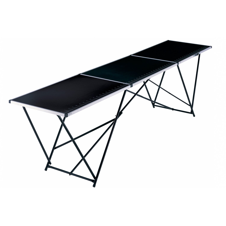 LUX Multifunktionstisch mit Stahl-Gestell | Baumarkt > Malern und Tapezieren > Tapeziertische | Schwarz | LUX-TOOLS
