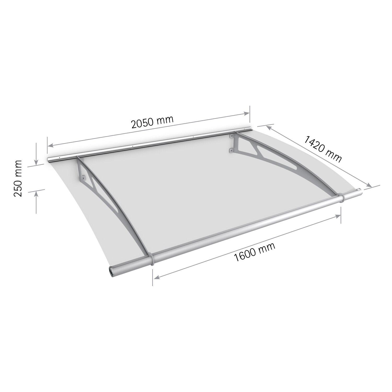 pultbogenvordach lt line xl 2050 wei klar 25 x 205 x 142 cm kaufen bei obi. Black Bedroom Furniture Sets. Home Design Ideas