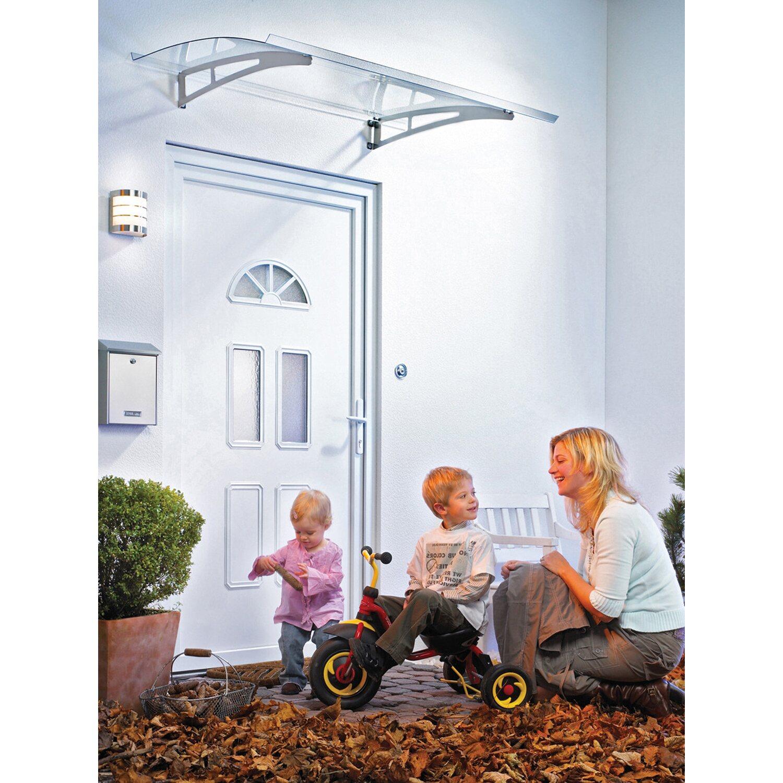 Pultbogenvordach Sunny 1 Edelstahl/Klar 17 x 140 x 90 cm | Baumarkt > Modernisieren und Baün > Vordächer | Transparent | Edelstahl