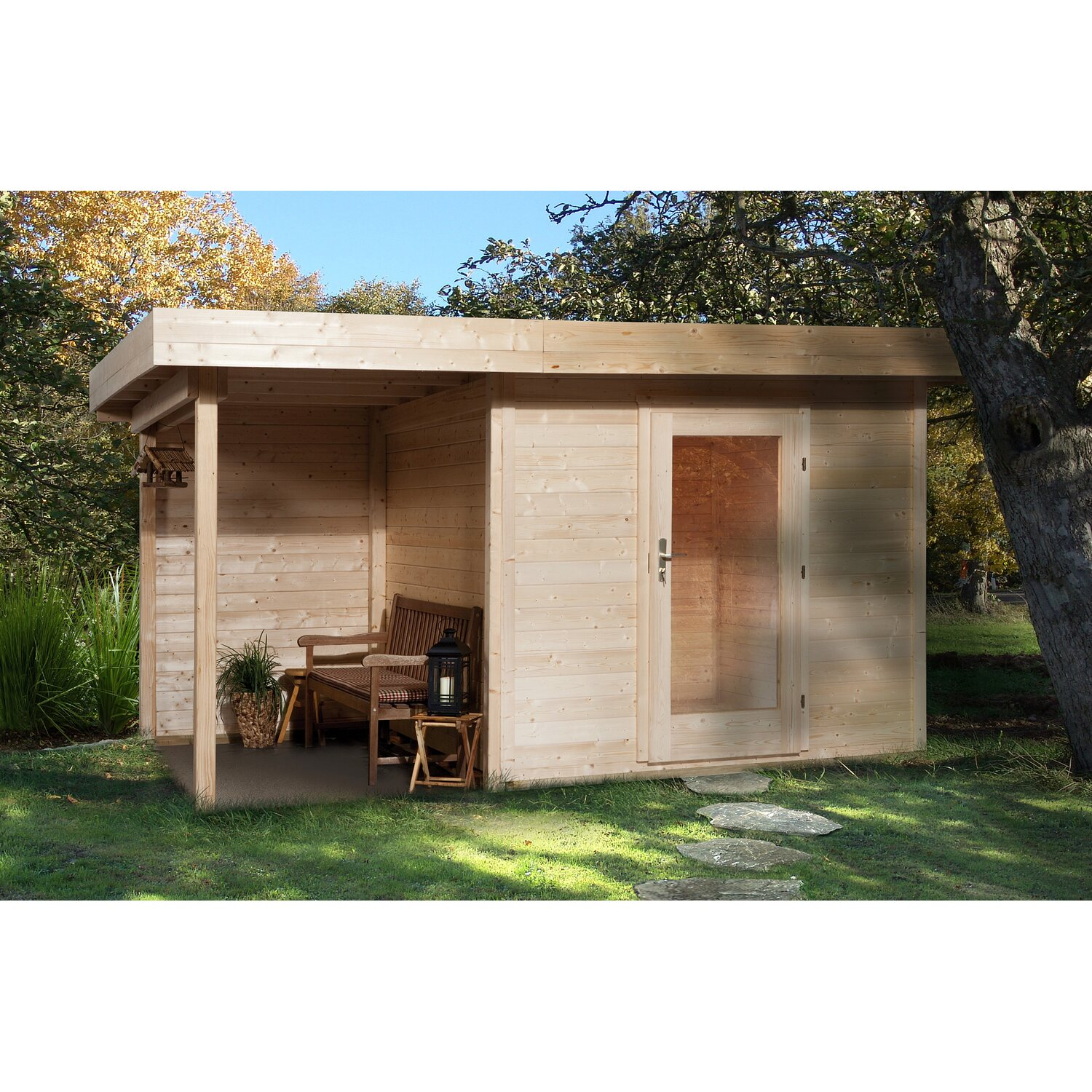 obi holz gartenhaus florenz b gr e 2 natur bxt 385 x 240 cm davon 150 cm terr kaufen bei obi. Black Bedroom Furniture Sets. Home Design Ideas