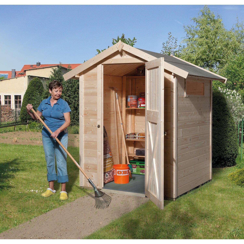 OBI Holz Gartenhaus Kompakt A BxT: 152 cm x 150 cm kaufen bei OBI