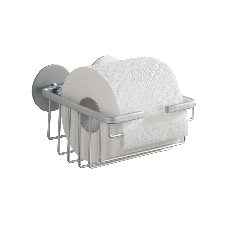 wenko wc papierhalter turbo loc befestigen ohne bohren alu offen kaufen bei obi. Black Bedroom Furniture Sets. Home Design Ideas